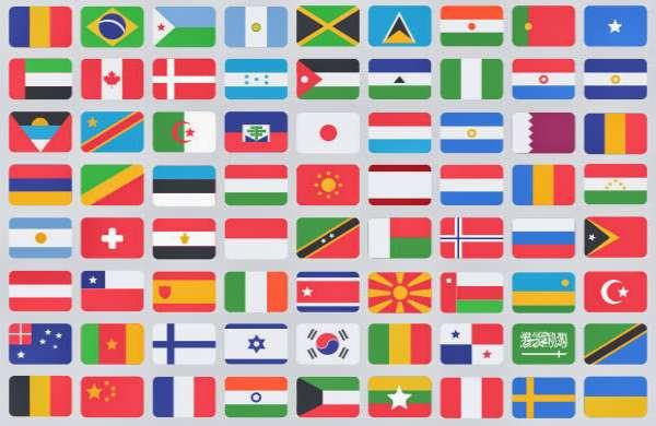tên các quốc gia trên thế giới bằng tiếng Anh